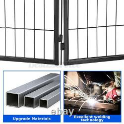 40'' Heavy Duty Metal Dog Cat Exercise Fence Playpen Kennel 8 Panel Safe For Pet