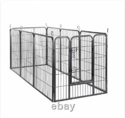 40 Heavy Duty Metal Exercise Pen 8 Panel Dog Pet Playpen, 31W x 40H