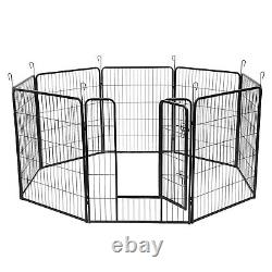 40 Inch 8 Panels Tall Dog Playpen Large Crate Fence Pet Play Pen Exercise Cage