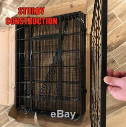 40 Inches 8 Panels Pen Dog Kennel Extra Large Tall Exercise Playpen with Gate