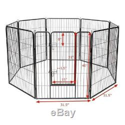 40 Tall Dog Playpen Crate Fence Pet Play Pen Exercise Cage 8 Panel Heavy Duty In