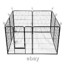 40 Tall Foldable 8 Panels Pet Playpen Heavy Duty Metal Dog Cat Exercise Fence