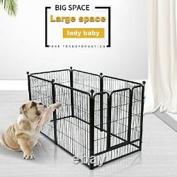 40 Tall Folding 6 Panel Heavy Duty Metal Dog Playpen Exercise Fence Kennel