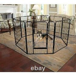 40 Tall Folding 8-Panel Dog Pen Playpen Heavy Duty Metal Exercise Fence Kennel