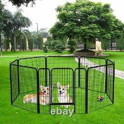 40 Tall Folding 8-Panel Heavy Duty Metal Dog Playpen Exercise Fence Kennel