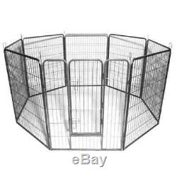 40'' Tall Wire Fence Pet Dog Cat Folding Exercise Yard 8 Panel Metal Play-Pen