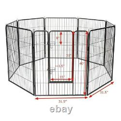 40 Tall Wire Fence Pet Dog Folding Exercise Yard 8 Panel Metal Playpen Crate