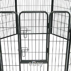 40 inch Pet Dog Playpen Heavy Duty Metal Exercise Playing Fence with 8 Panels
