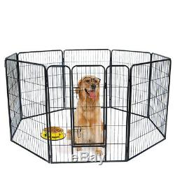 40 inch Tall Dog Playpen with Door, 8 Panel Folding Metal Puppy Exercise Pet NEW