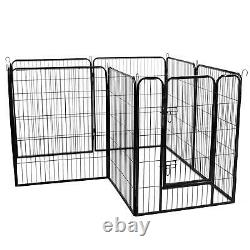 40 inch Tall Dog Playpen with Door 8 Panel Folding Metal Puppy Exercise Pet NEW