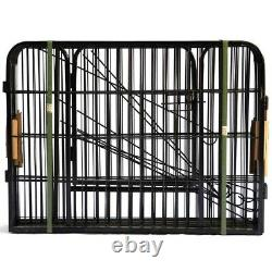 40 inch Tall Pet Dog Playpen with Door 8 Panels Folding Metal Puppy Exercise Pet