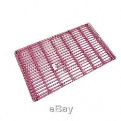 42 Pink Dog Playpen Crate 8 Panel Fence Pet Play Pen Exercise Puppy Kennel Cage