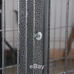 48 Heavy Duty Dog Cage Large Pet Crate Kennel Exercise Playpan Pen & Tray QC#