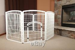 63 IRIS Large Indoor Outdoor Dog Pet 8 Panels Playpen Exercise Yard Cage Fence
