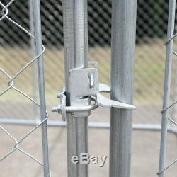 72H Dog Chain Link Fence Outdoor Run Kennel Extra Dogs Exercise Pet Pen