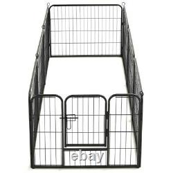 8/12/16 Panels Tall Dog Playpen Large Crate Fence Pet Play Pen Exercise Cage