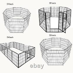 8-16panel 243039 Metal Dog Cat Exercise Fence Playpen Kennel Durable Play