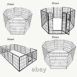 8-16panel 243039 Metal Dog Cat Exercise Fence Playpen Kennel For Pet