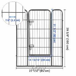 8 Panel 32x40 Pet Playpen Large Dog Pet Exercise Fence Crate Camping Cage House