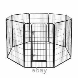 8 Panel 32x48 Pet Playpen Extra Large Dog Puppy Exercise Fence Crate Camping