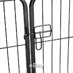 8-Panel/ 40 Metal Dog Cat Puppy Cage Exercise Fence Playpen Kennel Safe For Pet
