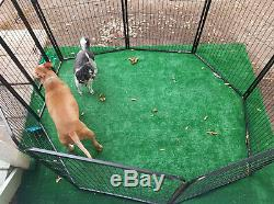 8 Panel Dog Pen Kennel Extra Large Exercise Playpen 40 Inches Tall with Gate New