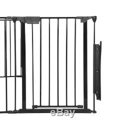 8 Panel Iron Wire Stable Dog Pet Playpen Heavy Duty Exercise Fence Hammigrid