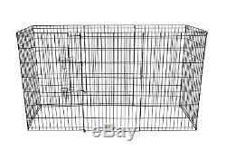 8-Panel Metal Wire Folding Exercise Yard Fence Dog Rabbit Pets Play Pen 24-48In