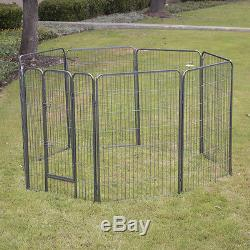 8 panel Pet Dog Exercise Pen Playpen Fence Yard Kennel Portable 24 32 40 48