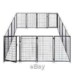 ALEKO 2DK5X5X4SQ Heavy Duty Pet Playpen Dog Kennel Pen Exercise Cage Fence 16 4
