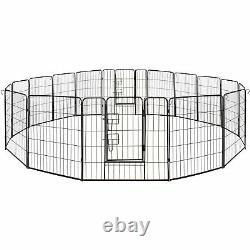 ALEKO Folding Pet Playpen 16 Panel Dog Kennel Exercise Cage Fence 32X32 In