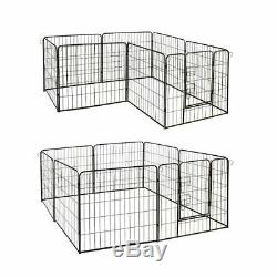 ALEKO Heavy Duty Pet Playpen 16 Panel Dog Kennel Exercise Cage Fence 32X32 In