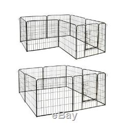ALEKO Heavy Duty Pet Playpen Dog Kennel Pen Exercise Cage Fence 8 Panel 32X32 In