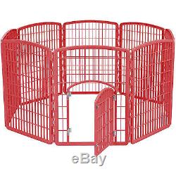 Big Dog Playpen Crate Fence Pet Play Pen Exercise Cage Heavy Duty Kennel Plastic
