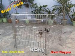 Dog Cage-Corral-PlayPen-Exercise STEEL Pen for pupsize 30x30 DHL/FEDEX