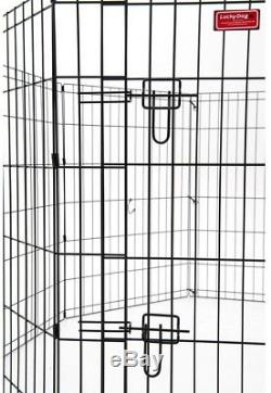 Dog Cat Pet Steel 48in High Heavy Duty Exercise Pen Cage with Ground Stakes New