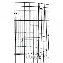 Dog Exercise Pen 36 in. High Heavy Duty With Stakes Portable Outdoor Play Fence