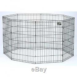 Dog Exercise Pen, Pet Play Fence Yard Cage / Gate 30, Indoor Whelping Dogs Pets