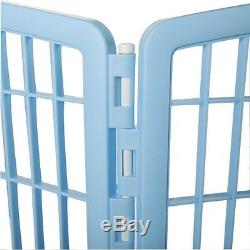 Dog Exercise Pen Puppy Training Containment Play Area In Out Door Fence Pet Gate