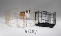 Dog Exercise Pen withDoor Enclosures Pet Play Yard Animal Fence Outdoor Crate