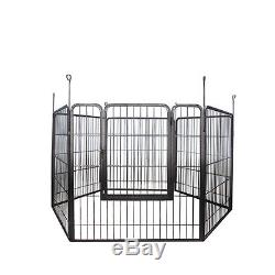 Dog Exercise Play Pen Large Heavy Duty Cage Pet Cat Barrier Fence Metal Kennel