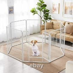 Dog Fence Heavy Duty 8 Panels 32 Inches Exercise Pen Dog Crate Cage Kennel