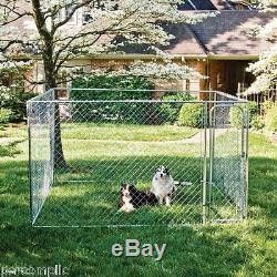 Dog Fence Kennel Pet Enclosure Safe Dogs Run Box Exercise Pen Outdoor Yard