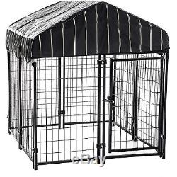 Dog Fence Pet Playpen Exercise Pen Kennel Crate Folding Cage Gate Play Panel Met