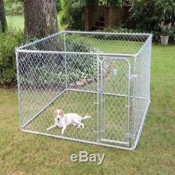 Dog Kennel Cage Fence Pet Enclosure Safe Dogs Run Box Exercise Pen Outdoor Yard
