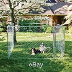 Dog Kennel Cage Pet Box Wire Chain Fence Outdoor Playpen Exercise Pen Crate