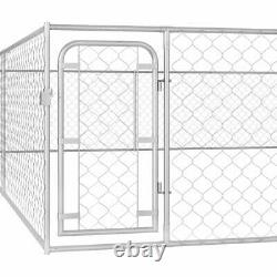 Dog Kennel Exercise Playpen Heavy Duty Pet House Garden Fence Metal Cage 6 m XXL