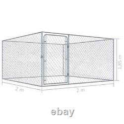 Dog Kennel Exercise Playpen Heavy Duty Pet House Outdoor Fence Lockable 72.8 in