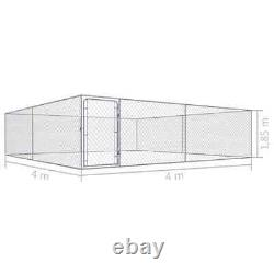 Dog Kennel Exercise Playpen Heavy Duty Pet House Outdoor Fence Metal Cage 4 m