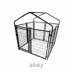 Dog Kennel Outdoor Heavy Duty Steel Playpen Roof Pet Cage Run Pet Exercise Cover